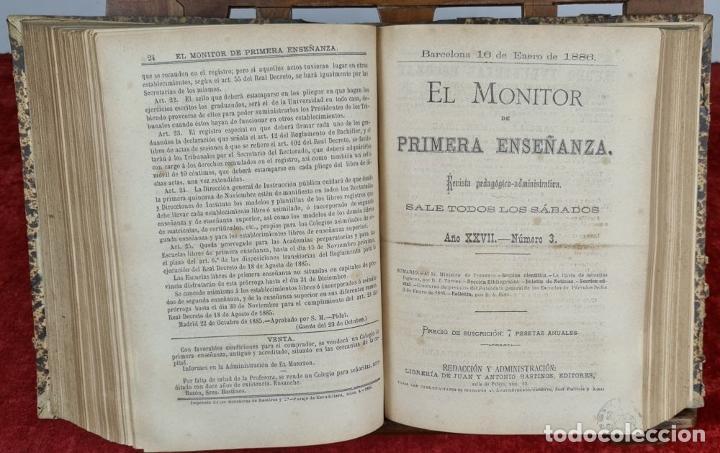 Libros antiguos: EL MONITOR DE PRIMERA ENSEÑANZA. EDIT. ANTONIO BASTINOS. 4 VOL. 1885/1902. - Foto 2 - 224863937