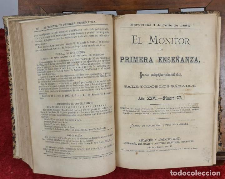 Libros antiguos: EL MONITOR DE PRIMERA ENSEÑANZA. EDIT. ANTONIO BASTINOS. 4 VOL. 1885/1902. - Foto 4 - 224863937