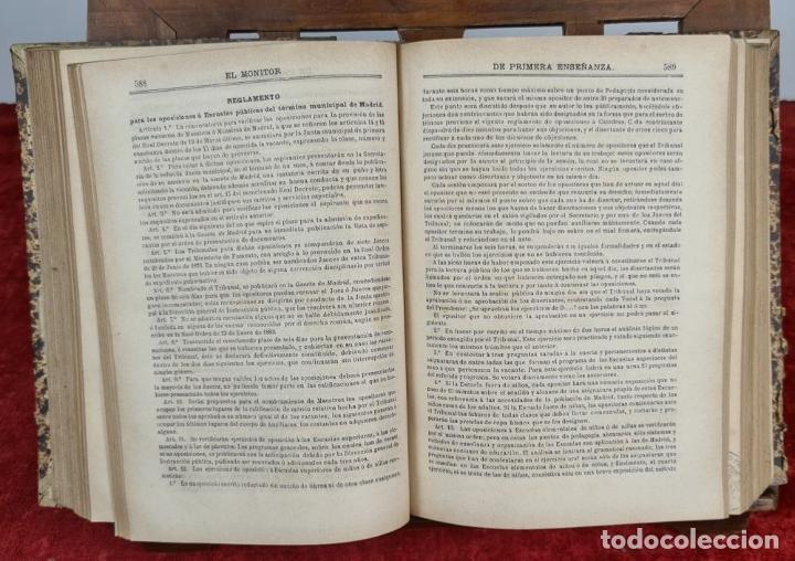 Libros antiguos: EL MONITOR DE PRIMERA ENSEÑANZA. EDIT. ANTONIO BASTINOS. 4 VOL. 1885/1902. - Foto 5 - 224863937