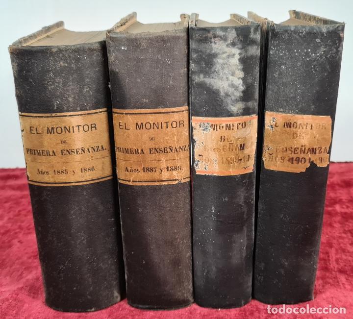 EL MONITOR DE PRIMERA ENSEÑANZA. EDIT. ANTONIO BASTINOS. 4 VOL. 1885/1902. (Libros Antiguos, Raros y Curiosos - Ciencias, Manuales y Oficios - Pedagogía)