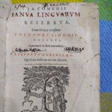 Libros antiguos: 1649. COMENIUS. IANUA LINGUARUM RESERATA. PUERTA ABIERTA DE LAS LENGUAS. IMPORTANTE. PEDAGOGÍA.. Lote 226711065