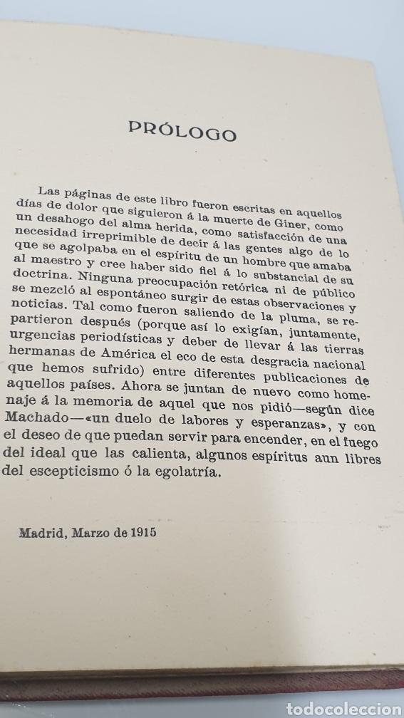 Libros antiguos: Rafael Altamira Giner de Los Ríos Educador Editorial Prometeo 1915 tapas originales Arte y Libertad - Foto 7 - 231196750