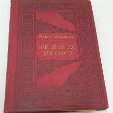 Libros antiguos: RAFAEL ALTAMIRA GINER DE LOS RÍOS EDUCADOR EDITORIAL PROMETEO 1915 TAPAS ORIGINALES ARTE Y LIBERTAD. Lote 231196750