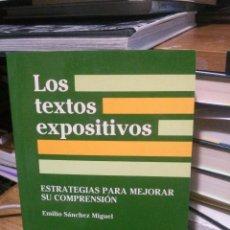 Libros antiguos: LOS TEXTOS EXPOSITIVOS, EMILIO SANCHEZ MIGUEL, ED. SANTILLANA AULA XXI. Lote 278962163