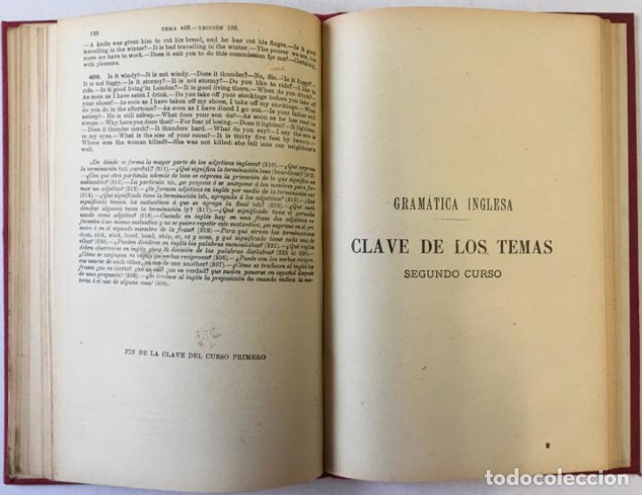 Libros antiguos: OLLENDORFF REFORMADO. GRAMÁTICA INGLESA Y MÉTODO PARA APRENDERLA. - BENOT, Eduardo. - Foto 10 - 236308755
