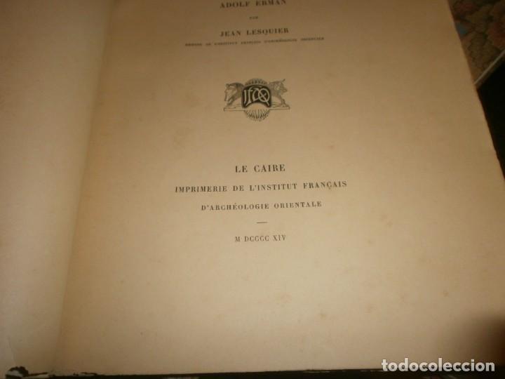 Libros antiguos: Jean Lesquier Grammaire Egyptienne Adolf Erman 1814 Le Caire Imprimerie de l´institut francais 28X23 - Foto 4 - 241517050