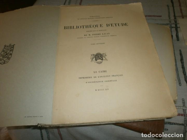 Libros antiguos: Jean Lesquier Grammaire Egyptienne Adolf Erman 1814 Le Caire Imprimerie de l´institut francais 28X23 - Foto 5 - 241517050