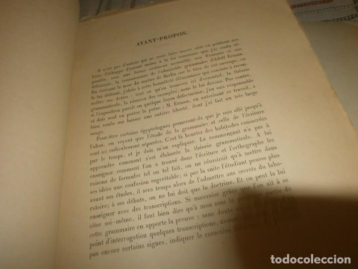 Libros antiguos: Jean Lesquier Grammaire Egyptienne Adolf Erman 1814 Le Caire Imprimerie de l´institut francais 28X23 - Foto 7 - 241517050