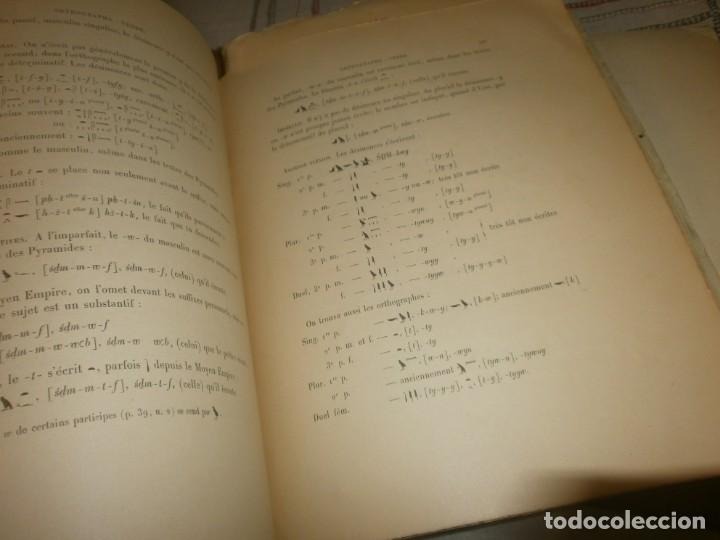 Libros antiguos: Jean Lesquier Grammaire Egyptienne Adolf Erman 1814 Le Caire Imprimerie de l´institut francais 28X23 - Foto 9 - 241517050