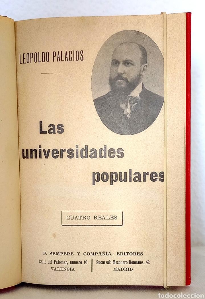 Libros antiguos: Leopoldo Palacios. Las Universidades Populares. Sempere Editores, h. 1915. - Foto 2 - 257549230