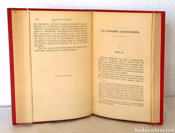 Libros antiguos: Leopoldo Palacios. Las Universidades Populares. Sempere Editores, h. 1915. - Foto 3 - 257549230