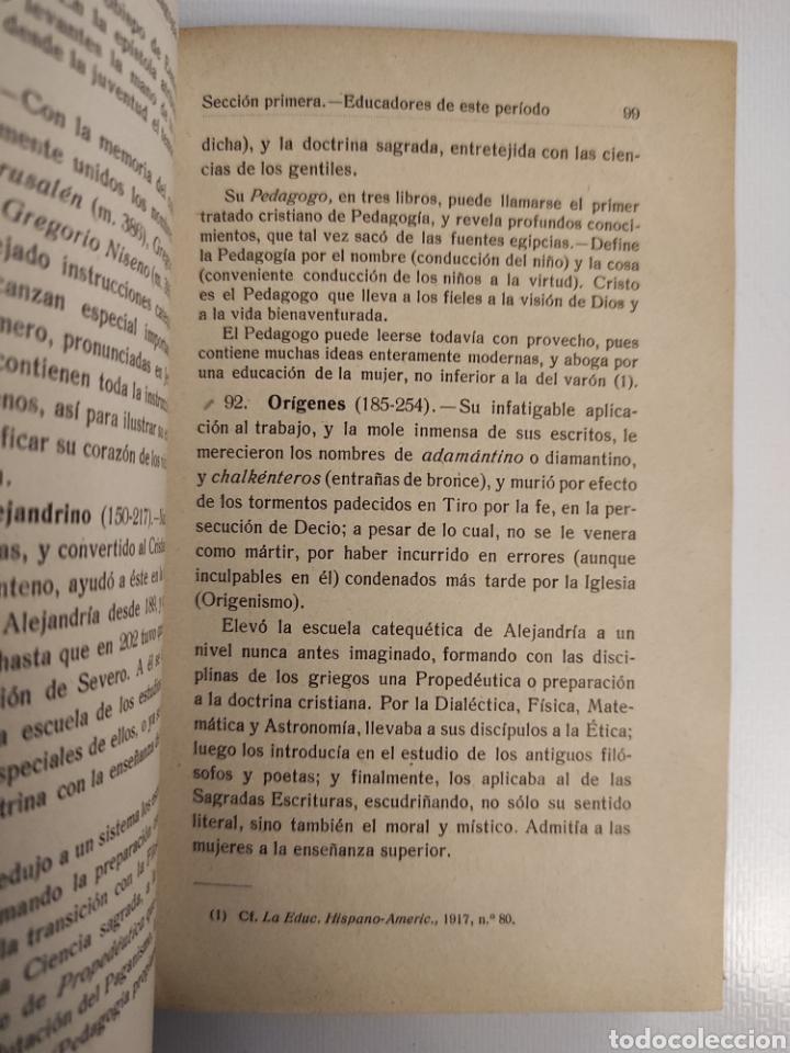 Libros antiguos: Historia de la educación y la pedagogía. Ramón Ruiz Amado. (1917) - Foto 6 - 257701780