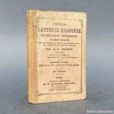 Libros antiguos: XIX - NOUVELLES LECTURES GRADUEES - EDUCACIÓN - PEDAGOGIA. Lote 270347323