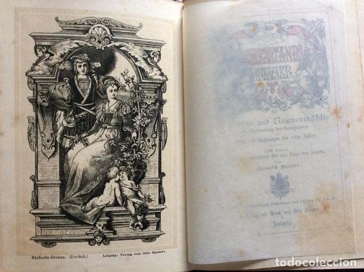 Libros antiguos: EXCELENTE ENCUADERNACIÓN. EJEMPLAR N.º 120 . EN ALEMÁN. - Foto 4 - 270370213