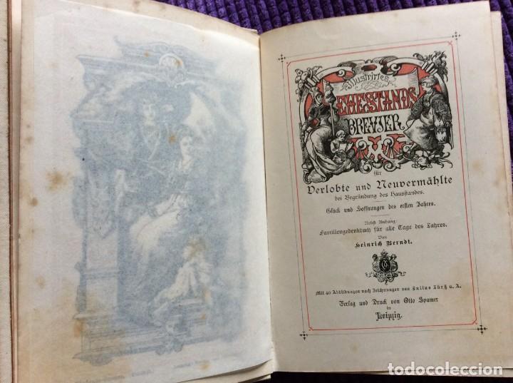 Libros antiguos: EXCELENTE ENCUADERNACIÓN. EJEMPLAR N.º 120 . EN ALEMÁN. - Foto 5 - 270370213