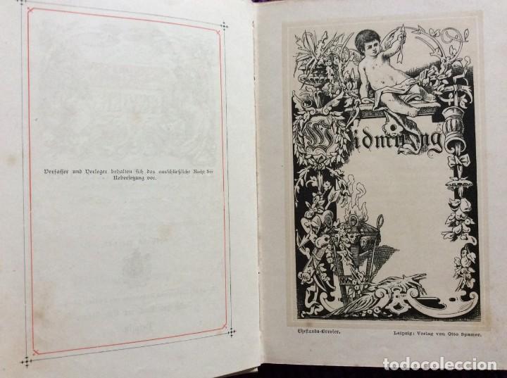 Libros antiguos: EXCELENTE ENCUADERNACIÓN. EJEMPLAR N.º 120 . EN ALEMÁN. - Foto 6 - 270370213