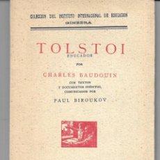 Libros antiguos: TOLSTOI EDUCADOR. Lote 271022498