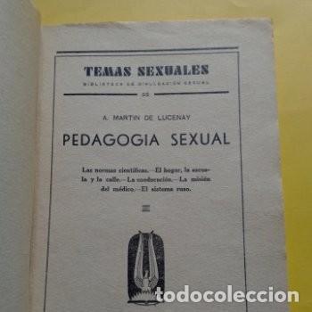 Libros antiguos: 1934 PRIMERA EDICION PEDAGOGIA SEXUAL A. MARTIN DE LUCENA - Foto 2 - 276246808