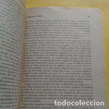 Libros antiguos: 1934 PRIMERA EDICION PEDAGOGIA SEXUAL A. MARTIN DE LUCENA - Foto 4 - 276246808