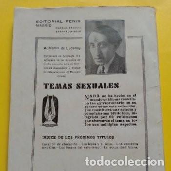 Libros antiguos: 1934 PRIMERA EDICION PEDAGOGIA SEXUAL A. MARTIN DE LUCENA - Foto 6 - 276246808
