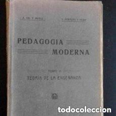 Libros antiguos: 1921 PEDAGOGIA MODERNA TOMO II. Lote 276248103
