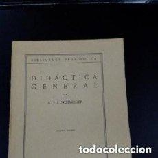 Libros antiguos: 1935 2° EDICION DIDACTICA GENERAL A. Y J. SCHMIEDER PUBLICACIONES DE LA REVISTA DE PEDAGOGIA. Lote 287545683