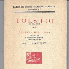 Libros antiguos: TOLSTOI EDUCADOR. Lote 287575028