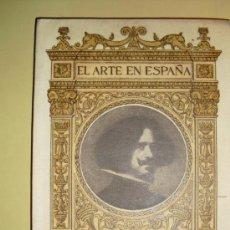 Libros antiguos: 1901-30 VELAZQUEZ EN EL MUSEO DEL PRADO EL ARTE EN ESPAÑA 48 LAMINAS. Lote 22459789