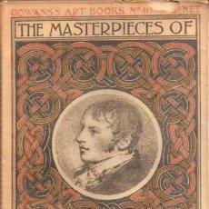 Libros antiguos: CONSTABLE - THE MASTERPIECES OF ... (1910) COLECCIÓN GOWANS ART BOOKS Nº 40. Lote 29670241