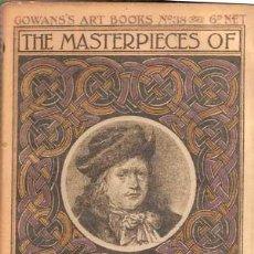 Libros antiguos: GERARD DOU - THE MASTERPIECES OF ... (1910) COLECCIÓN GOWANS ART BOOKS Nº 38. Lote 29679826