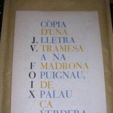 Libros antiguos: DAU AL SET - NUMERO DESEMBRE 1951, ANTONI TAPIES , J.V. FOIX , TIRATGE DE 100 EXP. EXP Nº 18 FIRMA . Lote 37676032