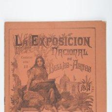 Libros antiguos: REVISTA LA EXPOSICION NACIONAL DE BELLAS ARTES DE 1897. Lote 39541012