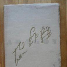 Libros antiguos: ARAGON REVISTA GRAFICA DE CULTURA ARAGONESA, ESPECIAL CENTENARIO GOYA. Lote 40377586