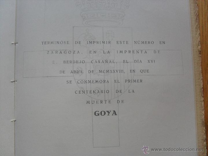 Libros antiguos: ARAGON REVISTA GRAFICA DE CULTURA ARAGONESA, ESPECIAL CENTENARIO GOYA - Foto 4 - 40377586