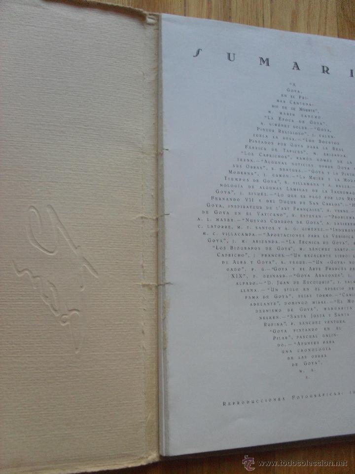 Libros antiguos: ARAGON REVISTA GRAFICA DE CULTURA ARAGONESA, ESPECIAL CENTENARIO GOYA - Foto 5 - 40377586