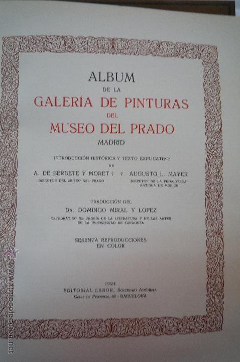 Libros antiguos: L- 454. GALERIAS DE EUROPA. MUSEO DEL PRADO, EDITORIAL LABOR. 1924. - Foto 3 - 43943804