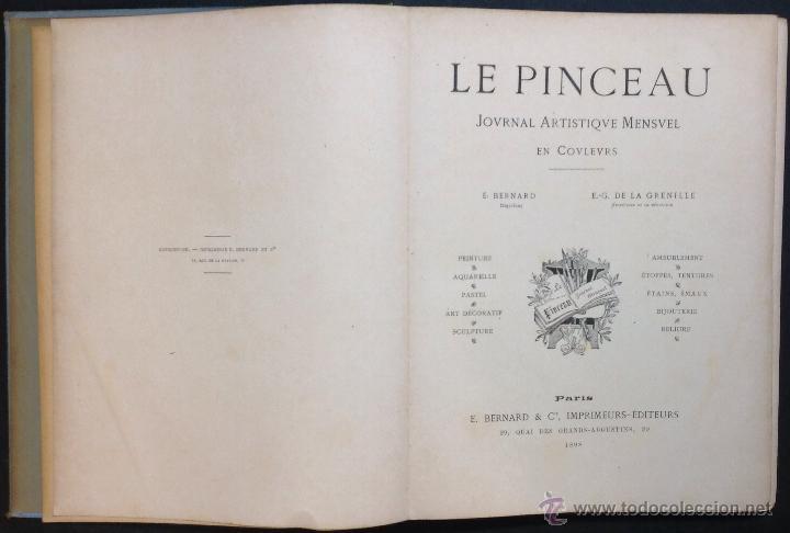 Libros antiguos: LE PINCEAU. Journal Artistique Mensuel en Couleurs. 1ère Annee. [Revista]. - Foto 2 - 44037897