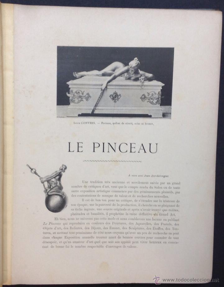 Libros antiguos: LE PINCEAU. Journal Artistique Mensuel en Couleurs. 1ère Annee. [Revista]. - Foto 3 - 44037897