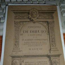 Libros antiguos: ANTIGUO LIBRO EJERCICIOS DE DIBUJO, 1887. Lote 45001015