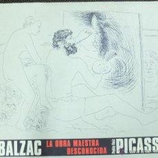 Libros antiguos: BALZAC-LA OBRA MAESTRA DESCONOCIDA-PICASSO. Lote 123485771