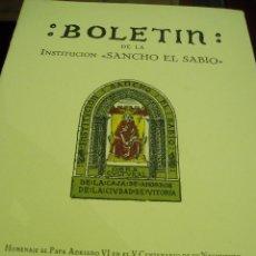 Libros antiguos: BOLETÍN DE LA INSTITUCIÓN SANCHO EL SABIO AÑO IV- TOMO IV -Nº 1-2---AÑO 1960. Lote 50308260