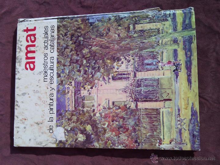 Libros antiguos: AMAT. Maestros actuales de la pintura y escultura catalanas. - Foto 2 - 50406971