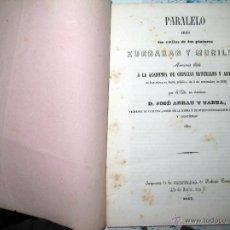 Libros antiguos: JOSÉ ARRAU Y BARBA. PARALELO ENTRE LOS ESTILOS DE LOS PINTORES ZURBARÁN Y MURILLO. 1847. Lote 51323560