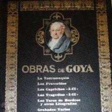 Libros antiguos: OBRAS DE GOYA DE ANTONIO DE HORNA. (EJEMPLAR NUMERADO). Lote 51691056