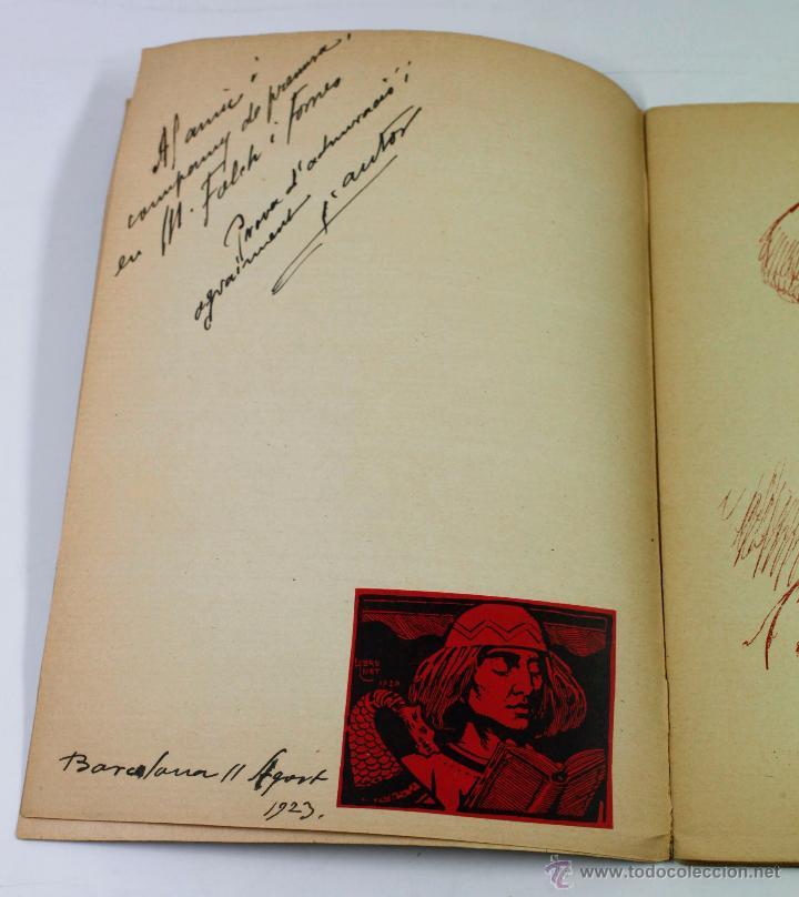 Libros antiguos: CAPS DE CASA, 30 DIBUJOS DE LLORENÇ BRUNET, dedicado por el autor a Folch i Torres, año 1923. - Foto 3 - 52782862