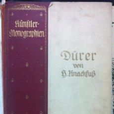 Libros antiguos: KNACKFUB. DÜRER. 1911 - EX-LIBRIS ENRICI D'AOUST DE LANDREEY. Lote 52888758
