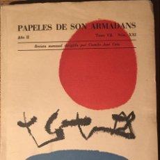 Libros antiguos: PAPELES DE SON ARMADANS. JOAN MIRÓ. CELA. PRECIOSO NÚMERO. . Lote 54461284