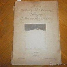 Libros antiguos: BOLETIN DE LA SOCIEDAD ESPAÑOLA DE EXCURSIONES EN HOMENAJE A D. FRANCISCO GOYA Y LUCIENTES (1928). Lote 54614246