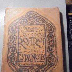 Libros antiguos: BERNARDINO DE PANTORBA - ROSTROS ESPAÑOLES AÑOS 20/30 RETRATOS Y SEMBLANZAS DE ESCRITORES , ARTISTAS. Lote 56260643