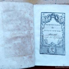 Libros antiguos: LIBRO S.XIX, AÑO 1807,SECRETOS DE ARTES Y OFICIOS,FABRICACION PORCELANA,RESUCITAR MUERTOS,PALOMAS. Lote 57070016
